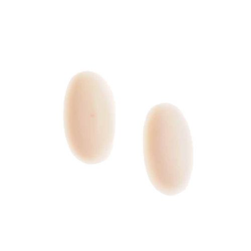 Jackie Brazil Matt Finish Capsule Stud Earrings in Boheme Natural Cream